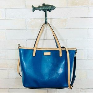 Coach | Park Metro Patent Leather Tote | Teal